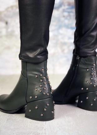 Натуральная кожа люксовые кожаные ботинки на удобном каблуке с...