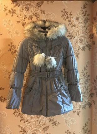 Зимняя куртка, пуховик 42-44 размер