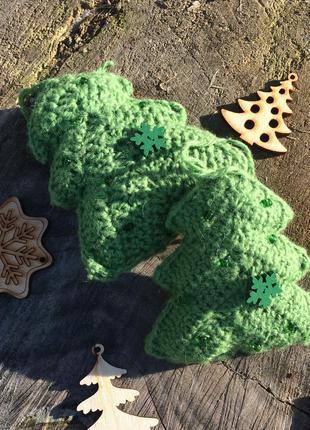 Новогодний декор вязаная елочка новогодняя игрушка ручной работы
