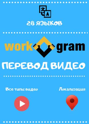 Профессиональный перевод/локализация видео на/с 28 языков