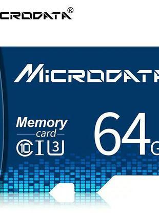 Карта памяти Microdata micro SD 64 Gb class 10  высокоскоростная