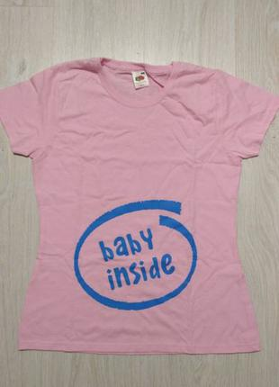 Женская футболка для беременных babyshower