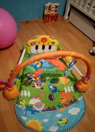 Детский коврик пианино музикальный с 0+