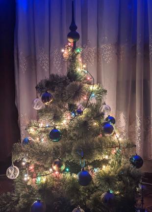 ПОДАРОК ГИРЛЯНДА Искусственная новогодняя елка (сосна) 1м