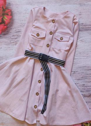 Шикарное платье ткань замш диагональ