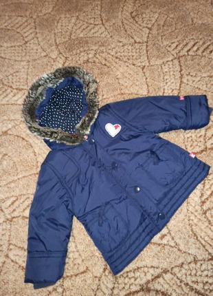 Куртка на девочку осень,зима, весна. Размер 68 см 6 месяцев.
