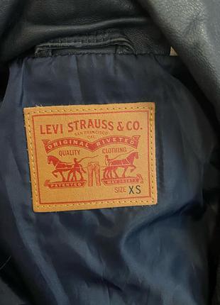 Винтажная кожаная куртка LEVIS