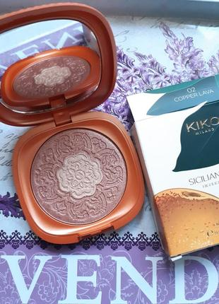 Sicilian notes highlighter duo kiko milano двухцветный хайлайт...