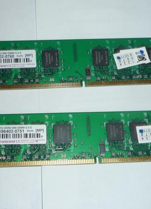 Модули памяти DDR2 800 1+1+2 гб.