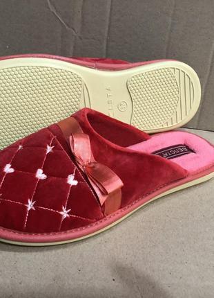 Тапочки Белста махровые красные 36 размер