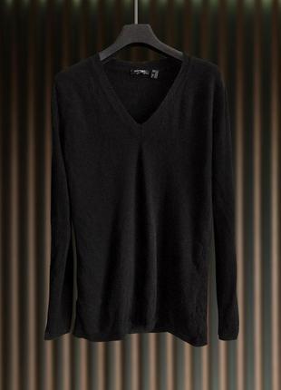 Черный кашемировый джемпер, свитер