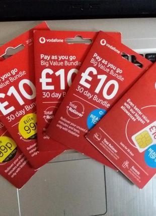 Vodafone UK sim сим карта для роуминга, интернет в Европе