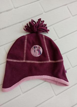 Шапка my little pony, шапка для девочки бордовая, шапка...