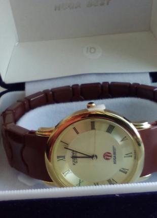 Часы Nuga Best с турманиевым браслетом и швейцарсеим механизмом