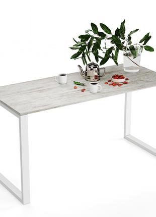 Стол обеденный белый, черный