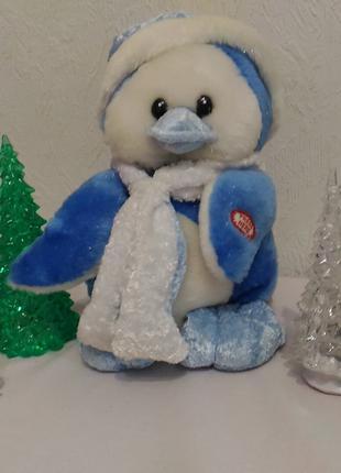 Пингвин музыкальный новогодняя мягкая игрушка