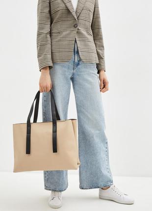 Стильная сумка шоппер mango