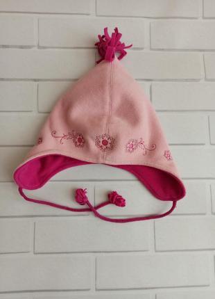 Шапка флиска h&m розовая, шапка демисезонная на девочку, шапка...
