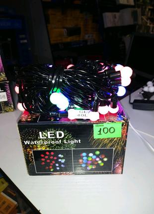 Гирлянда светодиодная NY - 40 LED L S Color