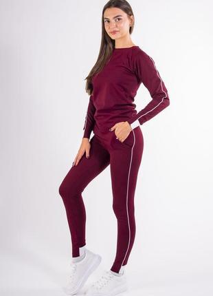 Спортивный костюм женский  бордо