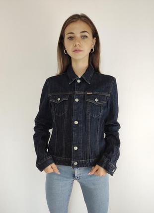 Diesel джинсовая темно-синяя куртка, брендовая джинсовка дизел...