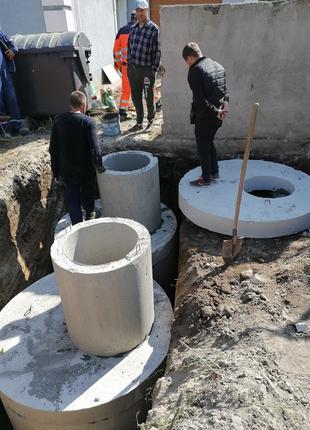 Земельные работы копка траншей водопровода фундаментов выгребных