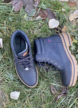 Ботинки демисезонные синие