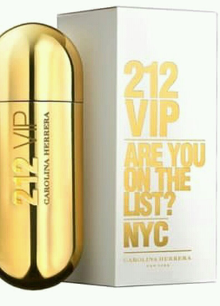 Парфюмированная вода для женщин Carolina Herrera 212 Vip Gold