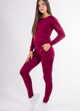 Спорт костюм женский бордо