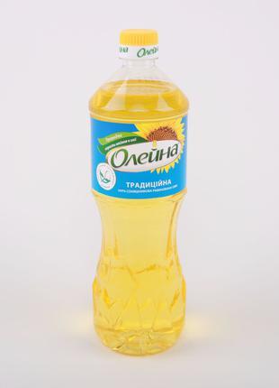 Масло подсолнечное рафинированное ТМ «Олейна Традиционная» 0,85 л