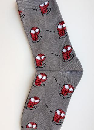 Топ! мужские носки с супергероем марвел(marvel) - человек паук