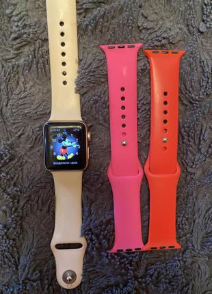 apple watch 3 series, 38 mm , rose gold