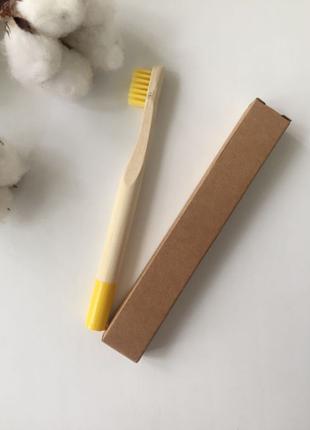 Детская зубная щетка, бамбуковая щетка, щетка из бамбука, эко