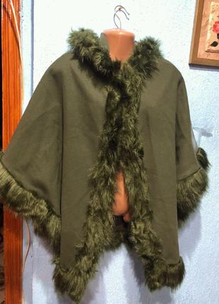 Пальто пончо кейп Luigi moda Italy