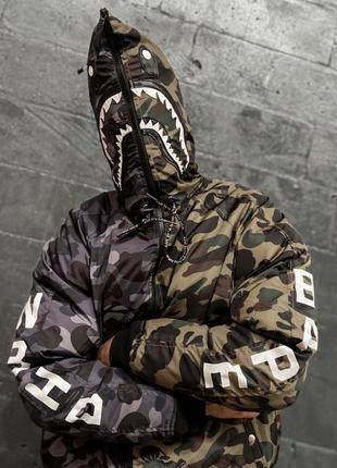 Мужская зимняя куртка bape x nbhd