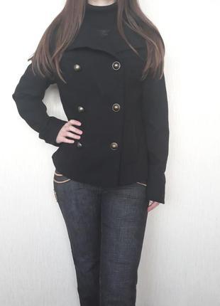 Пальто женское, пиджак осень/зима, черное пальто, осеннее пальто