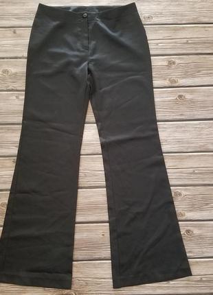 Штаны атласные черные, брюки женские, черный атлас, нарядные б...