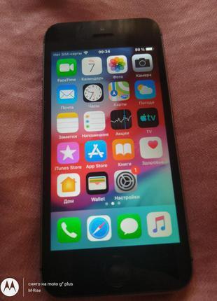 IPhone 5S 16GB из США! Icloud чист ios 12.4.9/ Под р-сим.Износ 9%