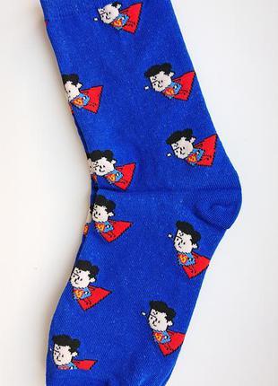 Топ! мужские носки с супергероем dc comics - супермен(superman)