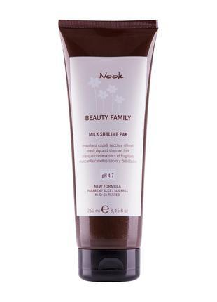 Маска-молочко для сухих и поврежденных волос nook beauty famil...