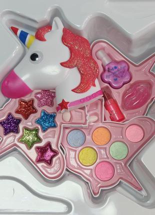 Набор детской декоративной косметики розовая единорог fashion