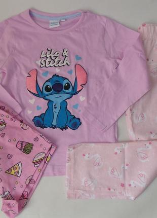 Пижама реглан-шорты-штаны primark англия 4-5 лет 110 см