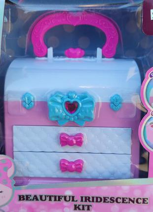Набор детской декоративной косметики в шкатулке розовая