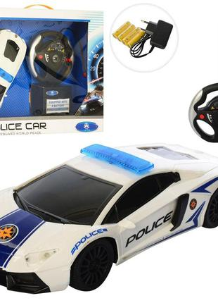 Машинка на радио пульте управления полиция белая lamborgini