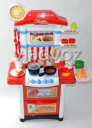 Детская большая кухня для девочки игрушечная kitchen красная