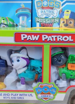 Фигурки из мультфильма набор игровой детский щенячий патруль 4шт