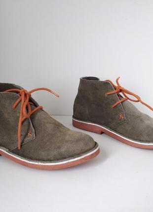 Кожаные демисезонные ботинки (замша) осенние joules