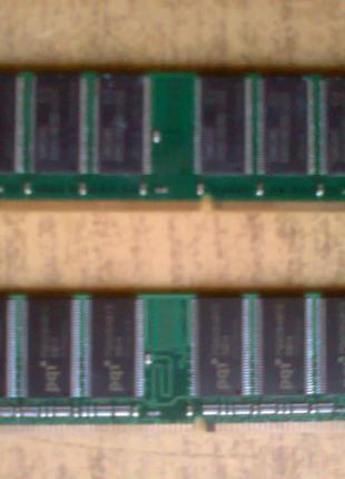 Оперативная память DDR400 две платы 512mb и 1gb