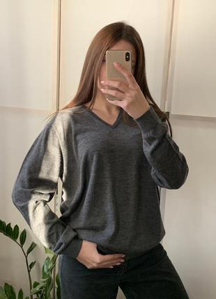Пуловер шерсть 100% оверсайз