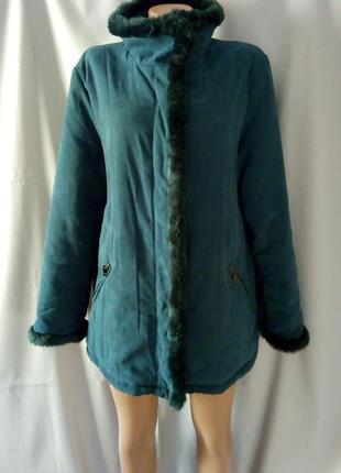 Распродажа!   утепленная куртка с меховой отделкой  №1vp